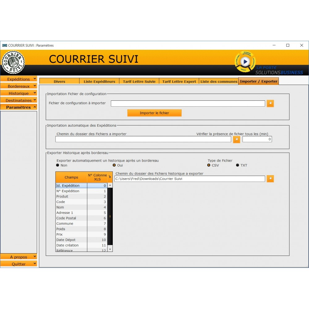 Module prestashop courrier suivi la poste for Suivi de courrier temporaire