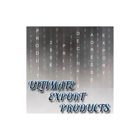 Module prestashop Export Produits Ultime pour Prestashop 1.5 et 1.6